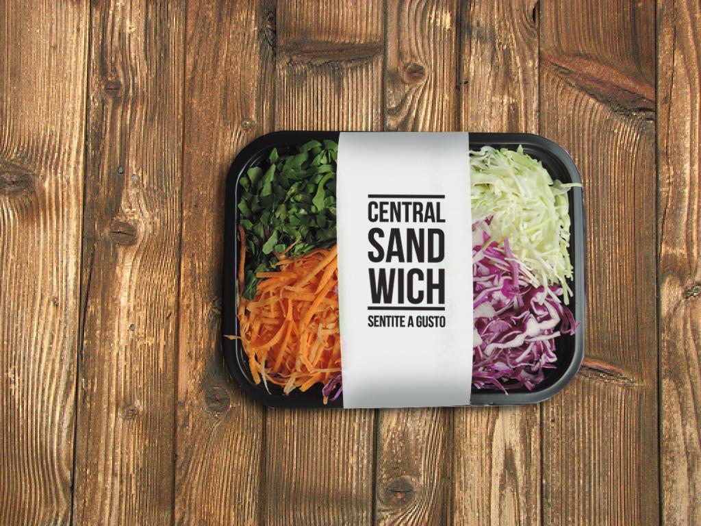 Presentación ensalada Central Sandwich