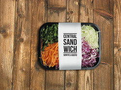 Central Sandwich salad packaging