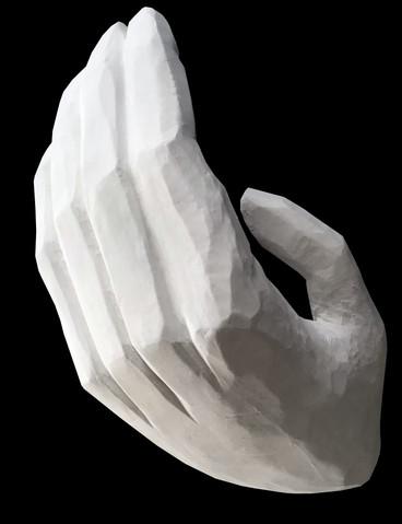 Prototype 4ft Hand Polycarving for 'Midsummer', Regent's Park Theatre