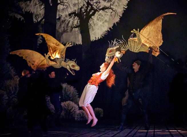Dragon Puppets for 'The Light Princess'