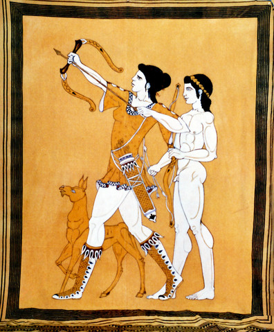 Grecian Painted Tapestry
