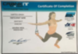 Certification of completion of CRANKIT FITNESS advanced suspended fitness course by Harteg Singh.