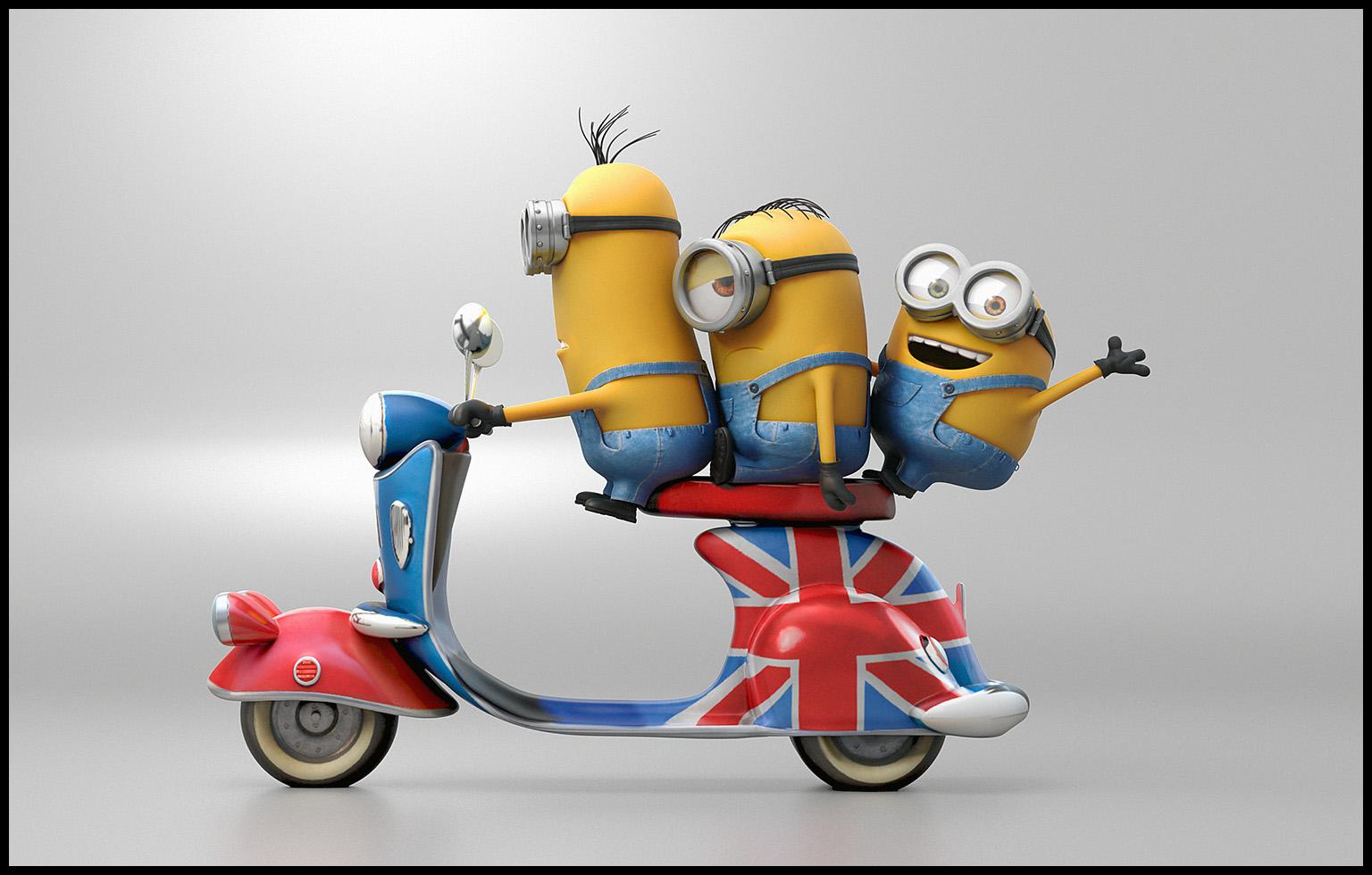 Bike riders Minions