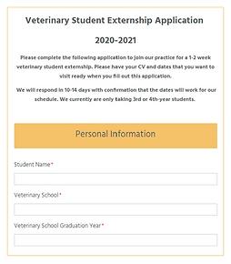 new - vet student extern application - s