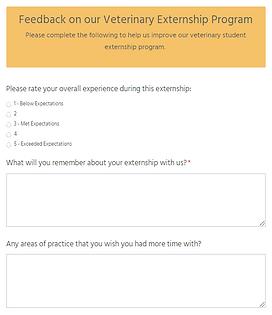 new - feedback on vet externship program