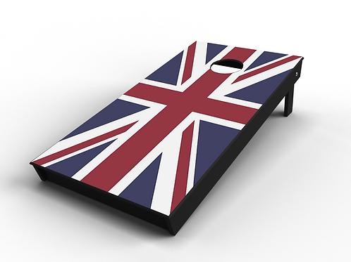 Union Jack Cornhole Board