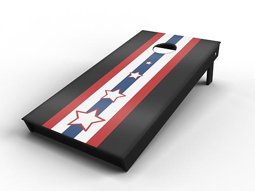 Classic Stars & Stripes Panel Cornhole Board