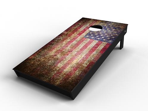 Rustic Stars & Stripes Cornhole Board