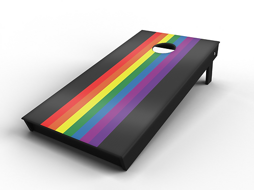 Classic Rainbow Panel Cornhole Board