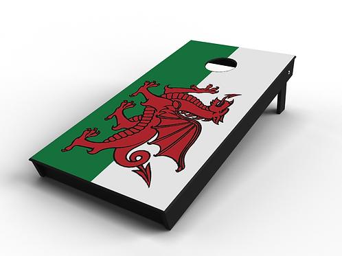 Welsh Flag Cornhole Board