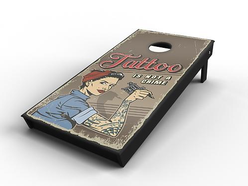 "Vintage Pinup ""Tattoo"" Cornhole Board"