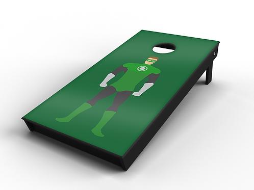 Green Lantern Cornhole Board