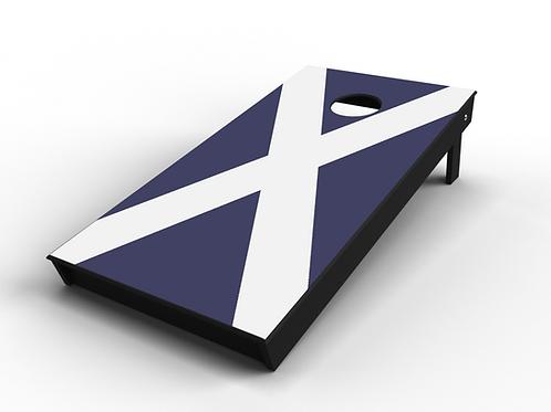 Scottish Flag Cornhole Board