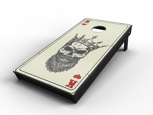 """Gangsta Poker """"Hearts"""" Cornhole Board"""