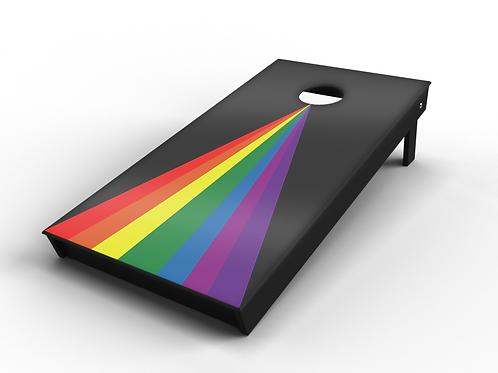 Classic Rainbow Triangle Cornhole Board