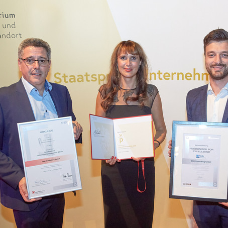 "Here is Austria's best Medium sized Enterprise: ÖSB Consulting wins State Award ""Corporate Quality"""