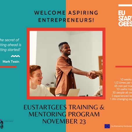EUStartGees: the new mini-training and mentoring programme starting in 2 weeks!