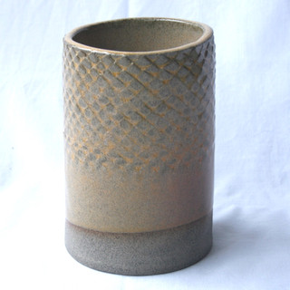 Patterned Utensil Pot Yellow