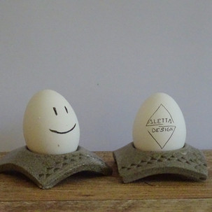 Egg cup Grey Crystalline