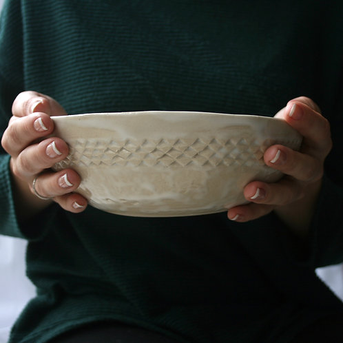 Frosted Patterned Bowl