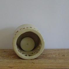 Carved Candle holder