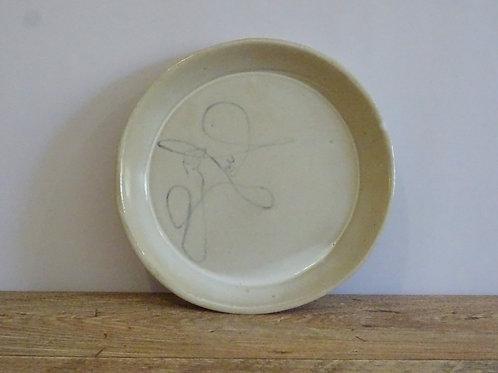 Handpainted Breakfast Plate