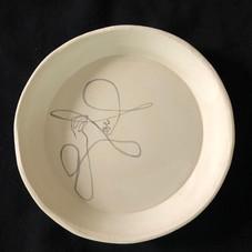 Handdrawn plate