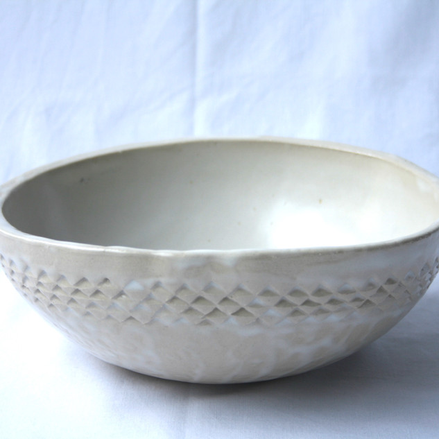 White Patterned Bowl