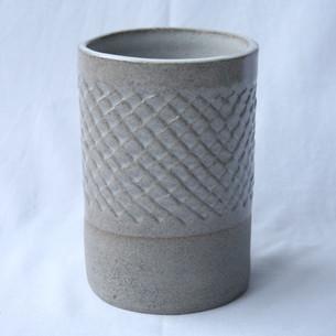 Patterned Utensil Pot White