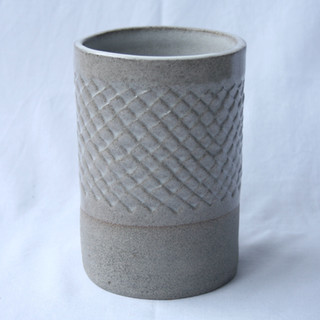 Patterned Utensil Pot White