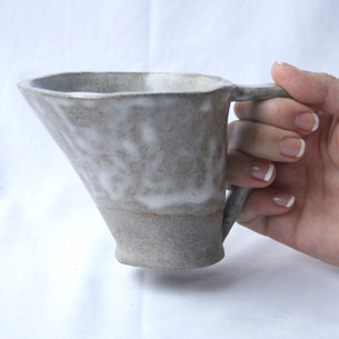 200 ml Assymetrical White Mug
