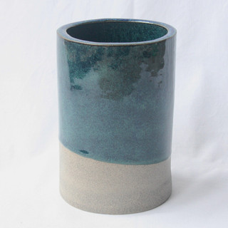 Utensil Pot Blue Green Dark
