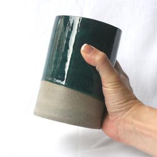 Utensil Pot Blue Green Dark