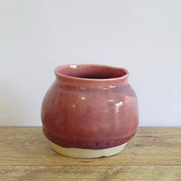 Maroon Flower Pot