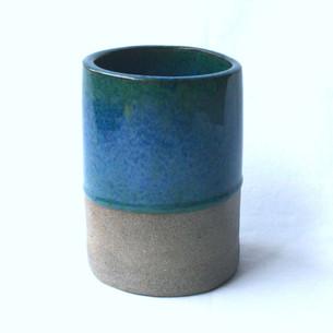 Utensil Pot Blue Green