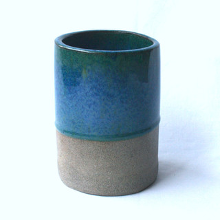 Utensil Pot Blue Green