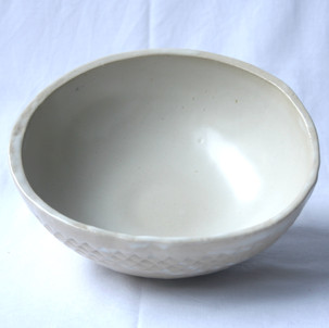 White Patterned Bowl