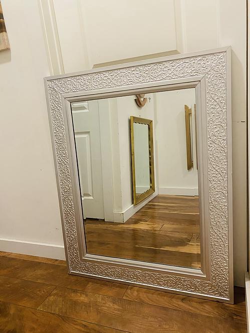 Silver Detailed mirror