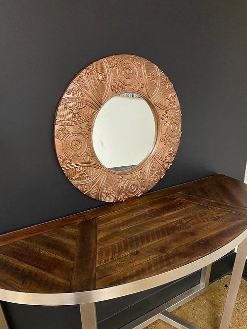 Round tribal mirror