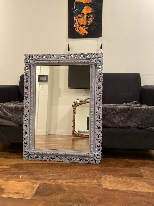 Chalk Textured vintage mirror