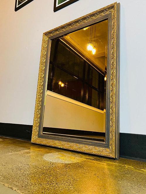 Big gold Detailed mirror