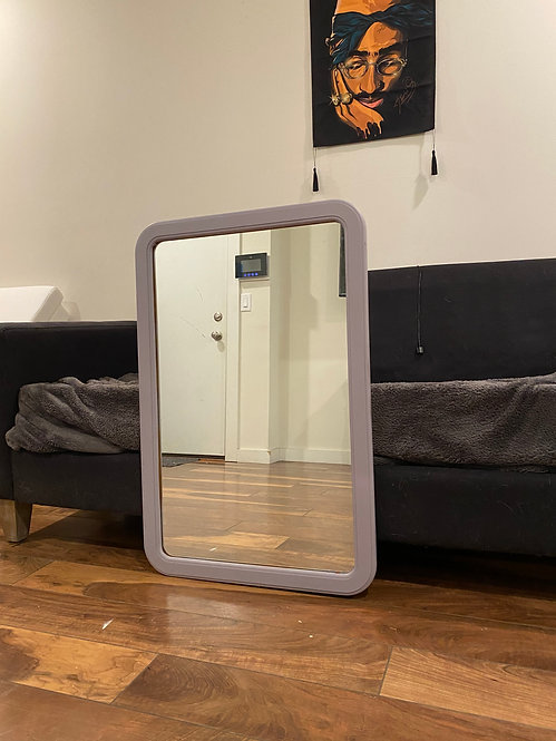 Modern Gray sleek mirror