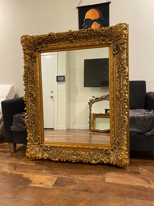 French style vintage gold mirror