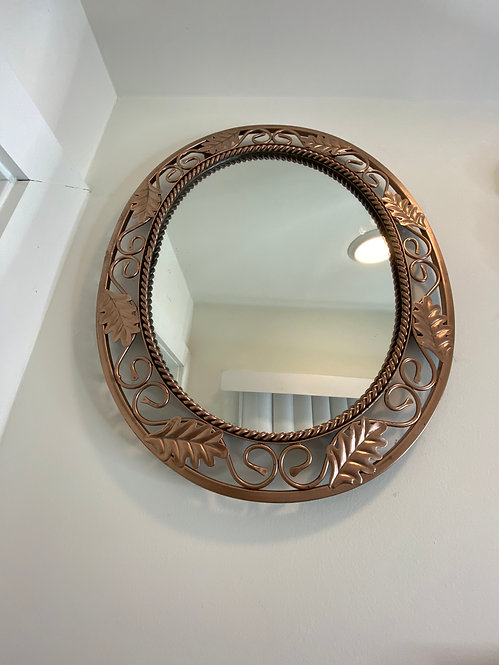 Bronze Oval Mirror