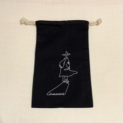 indischord グッズデザイン cotton pouch