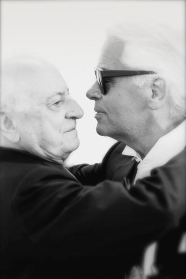 Pierre Berge & Karl Lagerfeld