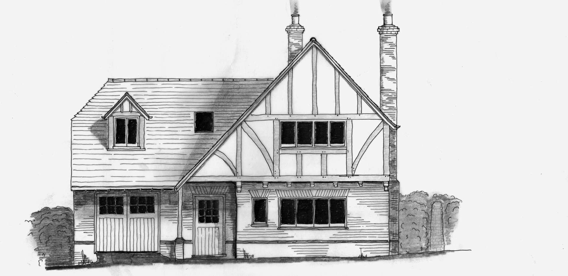 House hand drawn for Planning Stage
