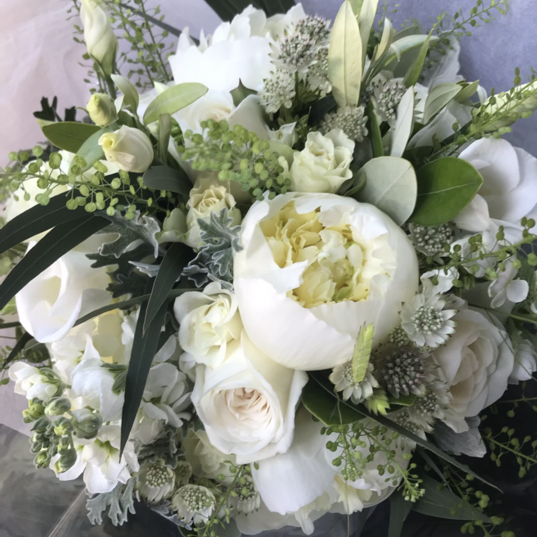 white scented bouquet