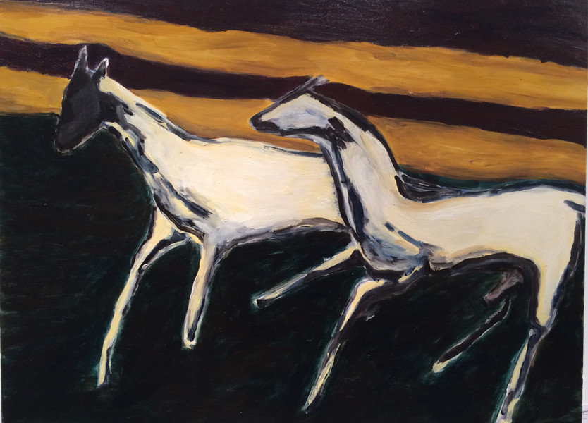 "2016 Pro Hart Prize For Hanging Art ""Night Romp"", Nancy Hunt"