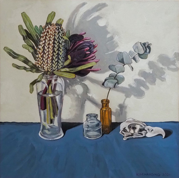 """2021 Highly Commended Hanging Art - """"Banksia and Found Objects"""" by Kim Harding"""
